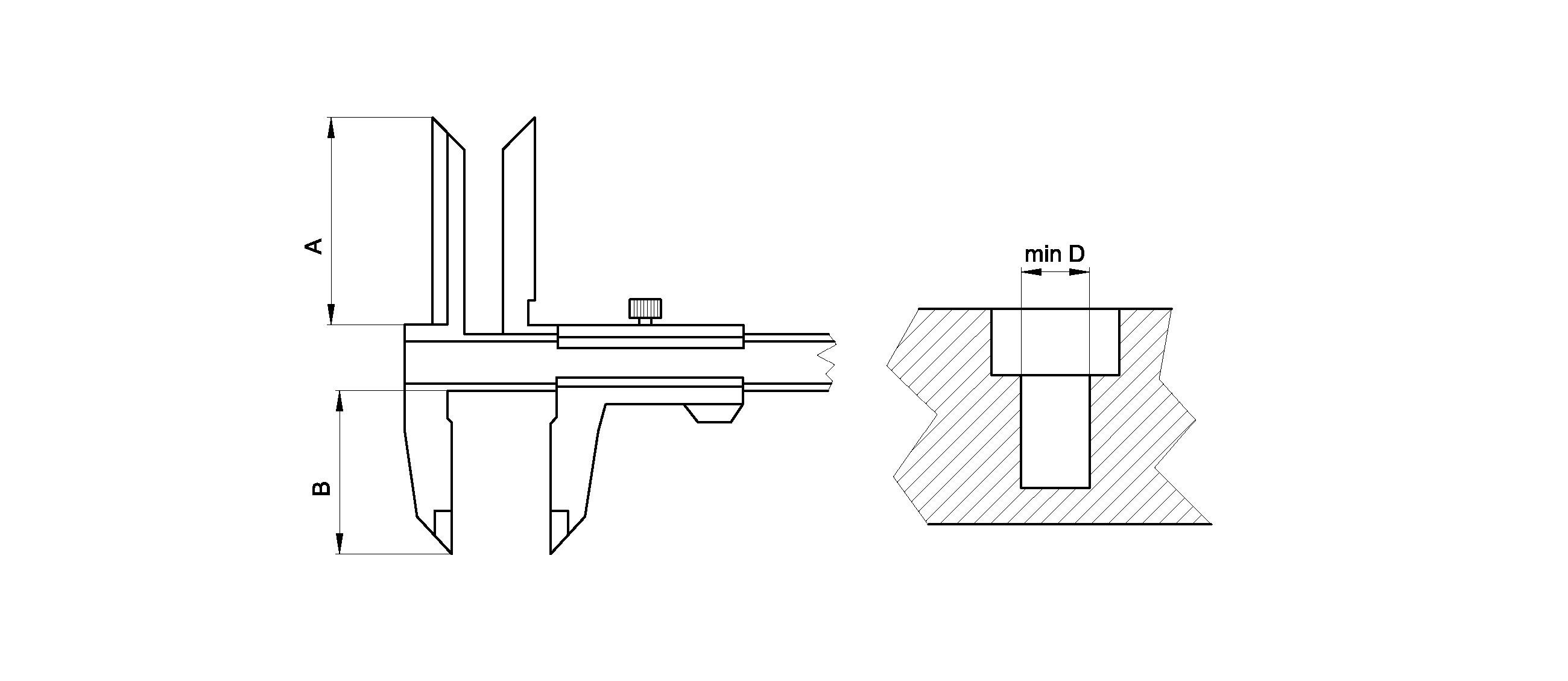 Vernier Caliper With Lengthened Points Ziiu Standart Diagram Model 169